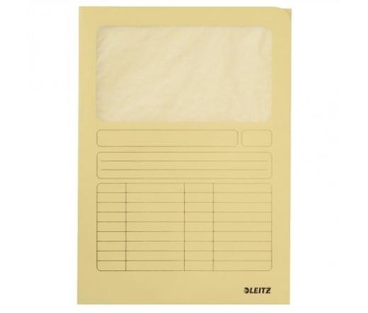 Leitz Mappa, ablakos, karton, A4, sárga