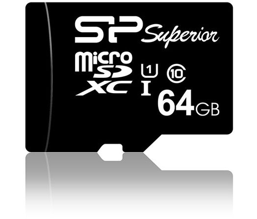 Silicon Power microSDXC Superior UHS-I 64GB