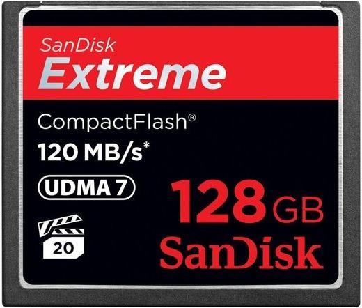 Sandisk Extreme CF UDMA7 120MB/s 128GB