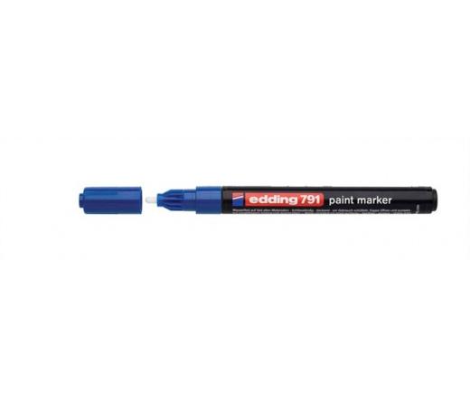 "Edding Lakkmarker, 1-2 mm,  ""791"", kék"
