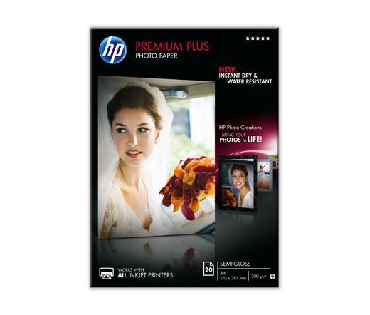 HP Premium Plus Fél-Fényes Fotópapír A4/20 300G