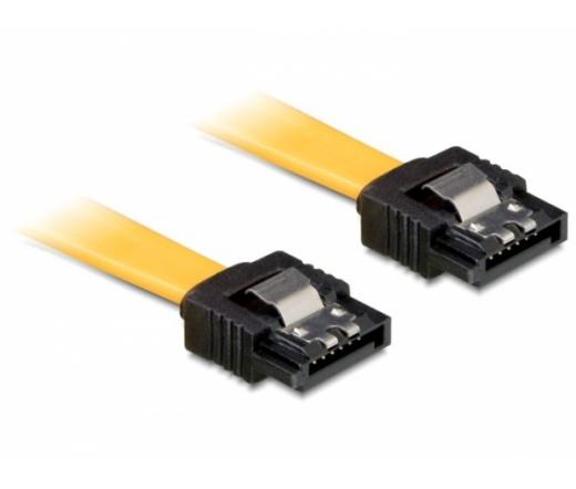 Delock SATA 6 Gb/s egyenes/egyenes kábel, fém10cm