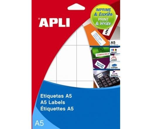 APLI etikett, 34x53 mm, kerekített sarkú, 180 db