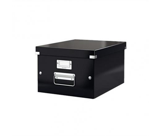 Leitz Irattároló doboz, A4, lakkfényű, Fekete