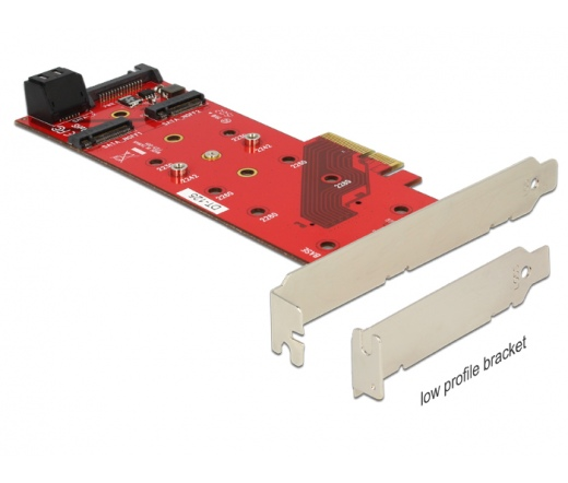 Delock PCI Express Card > 3 x M.2 NGFF Slot