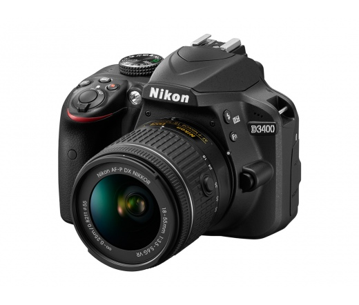 Nikon D3400 + AF-P 18-55 VR Kit + 16Gb SD + Táska