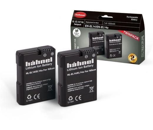 Hahnel HL-EL14/EL14A Twin Pack Nikon EN-EL14/EL14A