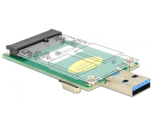Delock Converter USB 3.0 A apa > mSATA