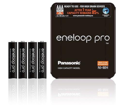 Eneloop Pro 4db AAA 930mAh sliding pack