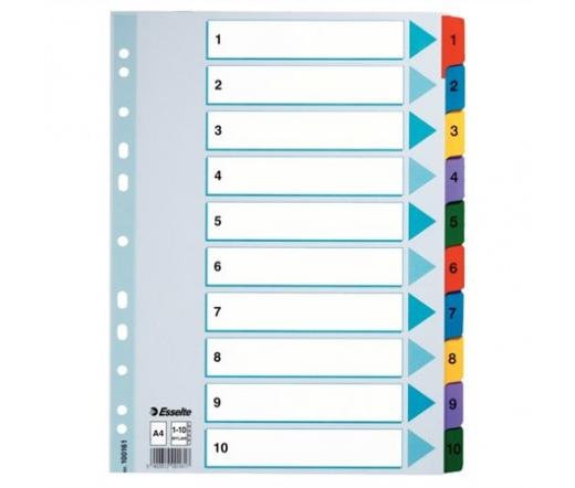 Esselte Regiszter, laminált karton, A4, Mylar