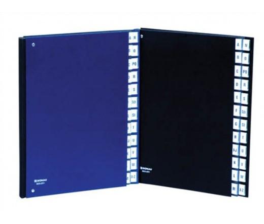 Donau Előrendező, A4, A-Z, karton, fekete