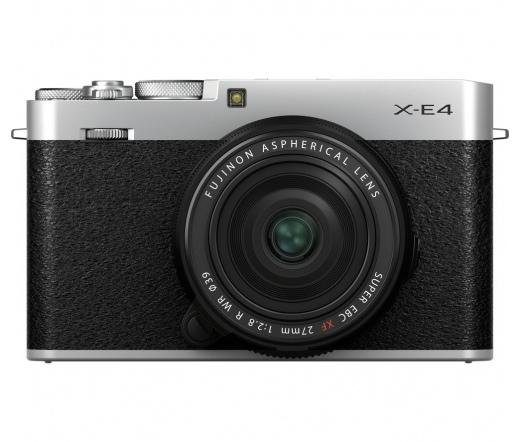 FUJIFILM FINEPIX X-E4 + 27mm f/2.8 R WR Ezüst Kit