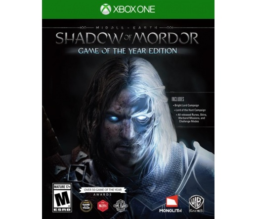 XBOX ONE Middle Earth Shadow of Mordor GoTY
