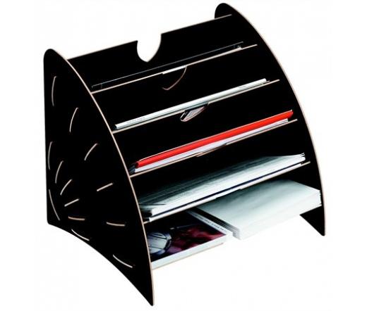 FelIowes rattartó, karton, 5 részes, fekete