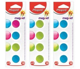 Maped Mágnes, kerek, 22 mm, vegyes színekben 4db
