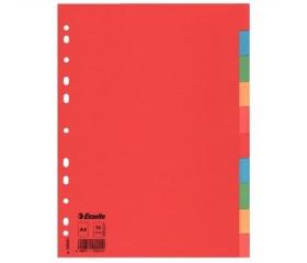 Esselte Regiszter, karton, A4, Economy színes