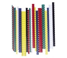 Fellowes Spirál, műanyag, 8 mm, 21-40 lap, fehér