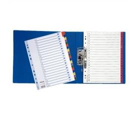 Esselte Regiszter, laminált karton, A4, A-Z, Mylar