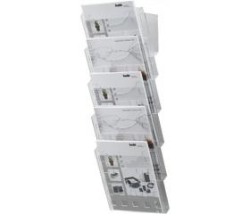 Helit Katalógustartó, fali kiegészítővel, A4, 6db