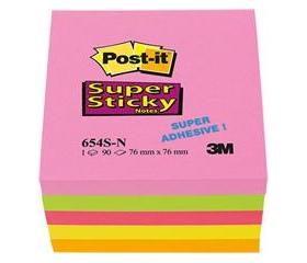 3M Postit Öntapadó jegyzettömb Super Sticky vegyes
