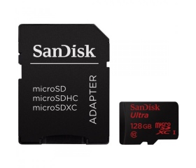 SANDISK microSDXC 128GB 80MB/S CLASS 10 +Adapt.