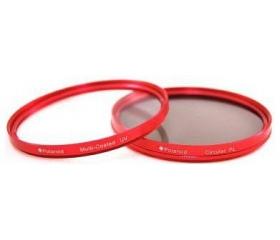 POLAROID UV + CPL szűrőszett 52 mm, piros foglalat