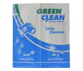 Green-Clean Lens Cleaner - nedves/száraz kendők