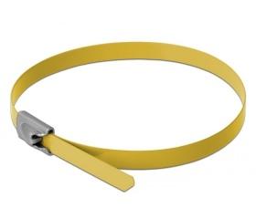 Delock r.m. acél kábelkötegelők 200mm 10db sárga