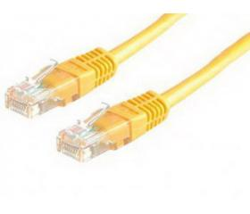 Roline UTP CAT6 patch 1m Sárga