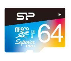 Silicon Power microSDXC Superior U3 színes 64GB