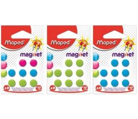 Maped Mágnes, kerek, 10 mm, vegyes színekben 8db