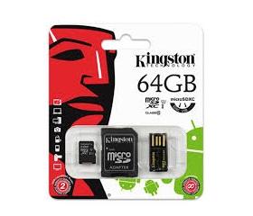 Kingston Micro SD 64GB + USB olvasó G2