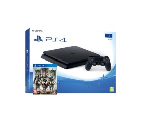 Playstation 4 Slim 1TB fekete + For Honor játék
