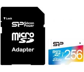 Silicon Power microSDXC Elite UHS-1 256GB + adapt