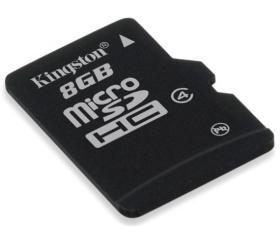 Memóriakártya, Micro SDHC, 8GB, Class 4, adapterre