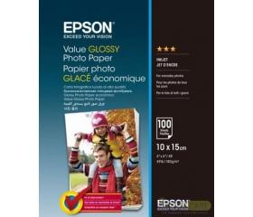 Epson gazdaságos fényes fotópapír 10x15cm 100lap