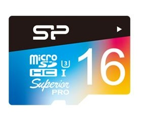 Silicon Power microSDHC Superior U3 színes 16GB