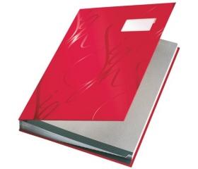 Leitz Aláírókönyv, A4, 18 részes, karton, piros