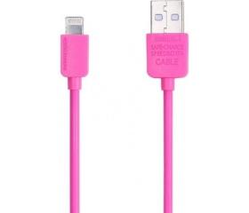 Remax Data Cable Light Lightning 1m rózsaszín