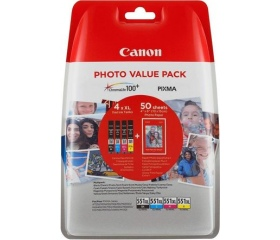 Canon CLI-551XL C/M/Y/K Value Pack