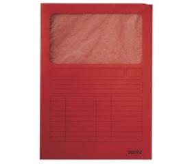 Leitz Mappa, ablakos, karton, A4, piros