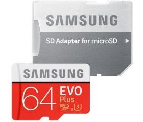 Samsung MicroSDXC 64GB EVO Plus CL10 + adapter