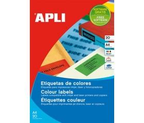 APLI 105x37mm színes piros 320db/cs
