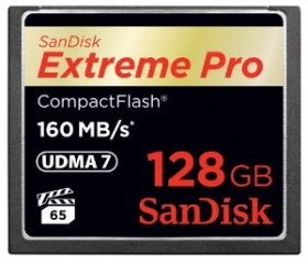 Sandisk Extreme PRO CF 160 MB/s 128GB