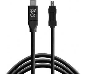 TT TetherPro USB Type C > Mini-B 5pin 4.6m fekete
