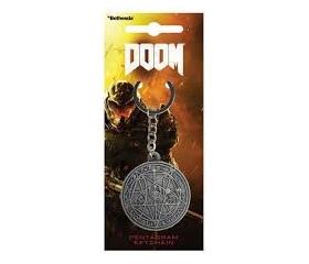 "Doom Keychain ""Pentagram"""