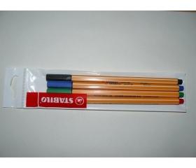 """Stabilo Tűfilc készlet, 0,4 mm, """"Point 88"""", 4 szín"""