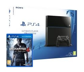 PS4 1TB Konzol + Uncharted 4 A Thiefs End Limited