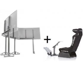 Playseat Evolution Alcantara PRO + TV Stand Triple