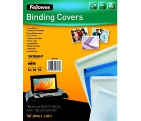 Fellowes Hőkötőborító, A4 Coverlight fehér 20db